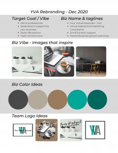 Your Virtual Associate re-branding worksheet