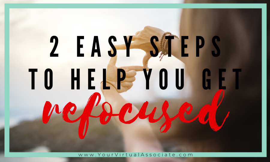 How to get refocused in the New Year